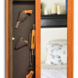 Stealth Wall Concealed Storage Cabinet with Mirror