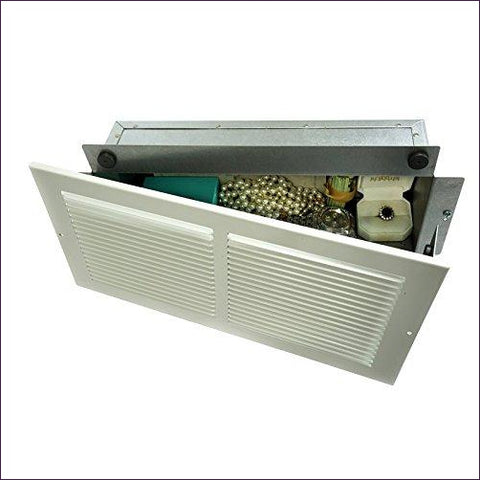 Hidden as Air Vent in Plain Sight, Secures Jewelry, Valuables, Cash