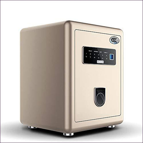 NILINLEI Fingerprint Digital Password All-steel Integrated into the Wall Safe