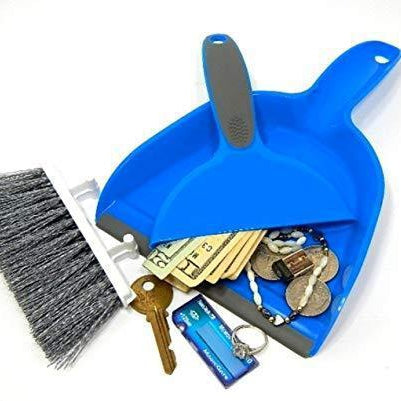 Dust Pan with Brush Diversion Safe