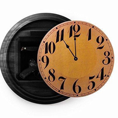 Home or Office Pistol Concealment Wall Clock - Secret Compartment Decor with hidden compartments to stash your valuables -Secret Stashing