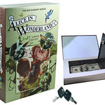 Alice in Wonderland - Real Paper Book Locking Booksafe with Key - Concealment furniture and gun concealment furniture to hide your money, pistol, rifle or other weapons, keep guns safe away from kids with hidden compartment furniture -Secret Stashing