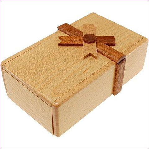Secret Opening Present Box- Cool puzzles and brain teasers try and solve the puzzle and find the secret compartment and hidden door, great gift ideas -Secret Stashing