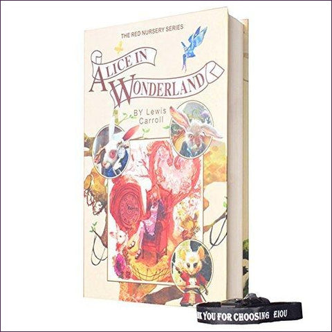 Alice In Wonderland - Real Paper Diversion Book Safe with key - Diversion Safes - Hide your stash and money in everyday items that contain secret compartments, if they don't see it, they can't get it -Secret Stashing