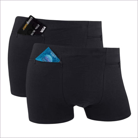 Pocket Underwear for Men with Secret Hidden Pocket - Hide your money and passport and keep it safe when traveling with clothes and jewelry with secret compartments -Secret Stashing