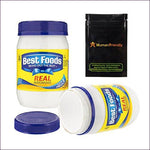 Best Foods Mayonnaise Diversion Safe Stash Can w HumanFriendly Smell-Proof Bag - Diversion Safes - Hide your stash and money in everyday items that contain secret compartments, if they don't see it, they can't get it -Secret Stashing