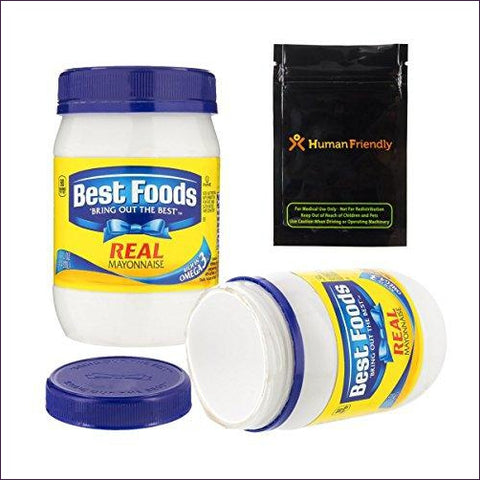 Best Foods Mayonnaise Diversion Safe Stash Can w HumanFriendly Smell-Proof Bag - Diversion safes made out of every day items to keep your stash hidden and hide your money and valuables from the naked eye -Secret Stashing
