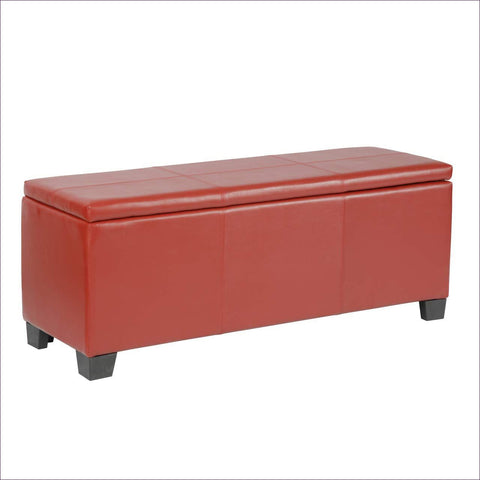 Classics Model Fusion Red gun concealment bench - Concealment furniture and gun concealment furniture to hide your money, pistol, rifle or other weapons, keep guns safe away from kids with hidden compartment furniture -Secret Stashing