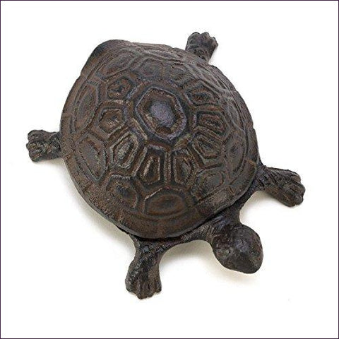 Metal Cast Iron Turtle Statue Spare Key Hiders Outside - Secret Compartment Decor with hidden compartments to stash your valuables -Secret Stashing