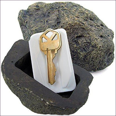 Hide-a-Spare-Key Fake Rock - Looks & Feels like Real Stone - Diversion Safes - Hide your stash and money in everyday items that contain secret compartments, if they don't see it, they can't get it -Secret Stashing