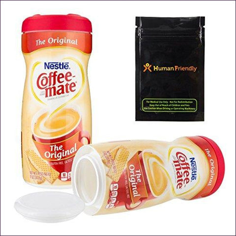 Coffee Mate Creamer Diversion Safe Stash Can w HumanFriendly Smell-Proof Bag