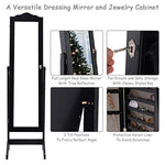 Jewelry Cabinet Armoire Lockable with Mirror