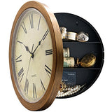 Plastic Wall Clock with Hidden Compartment - Concealment furniture and gun concealment furniture to hide your money, pistol, rifle or other weapons, keep guns safe away from kids with hidden compartment furniture -Secret Stashing