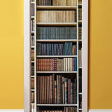 3D Door Mural Wrap Glossy Bubble Free Sticker Bookshelf of First Edition Classic Novels
