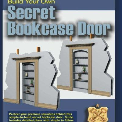 Build Your Own Secret Bookcase Door - DIY hidden compartments and diversion safes, build you own secret compartment to keep your money and valuables safe and avoid theft and stealing by burglars -Secret Stashing