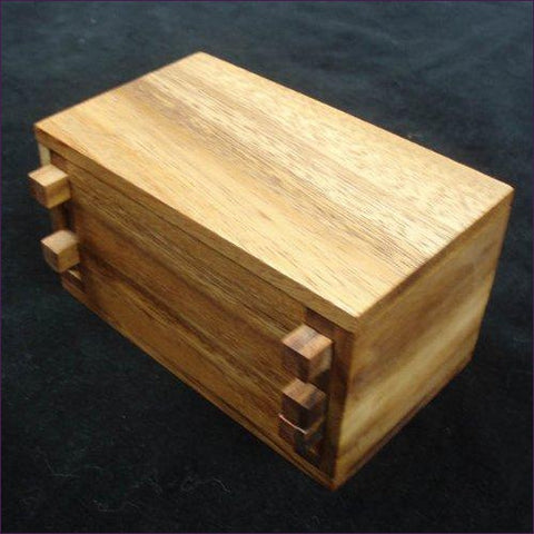 Secret Lock Box Wood Brain Teaser Puzzle - Put a Gift Inside- Cool puzzles and brain teasers try and solve the puzzle and find the secret compartment and hidden door, great gift ideas -Secret Stashing