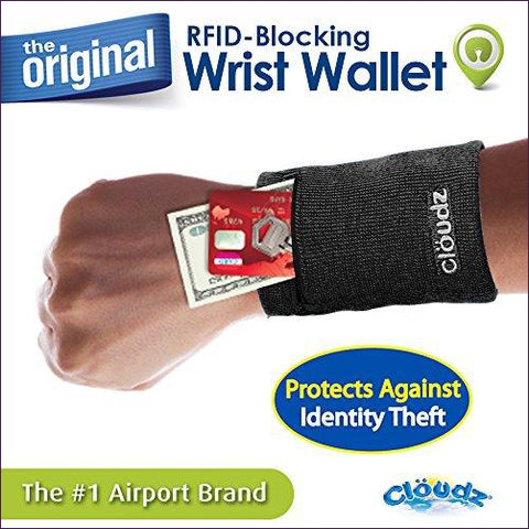 RFID Protection Travel Wrist Wallet - Hide your money and passport and keep it safe when traveling with clothes and jewelry with secret compartments -Secret Stashing
