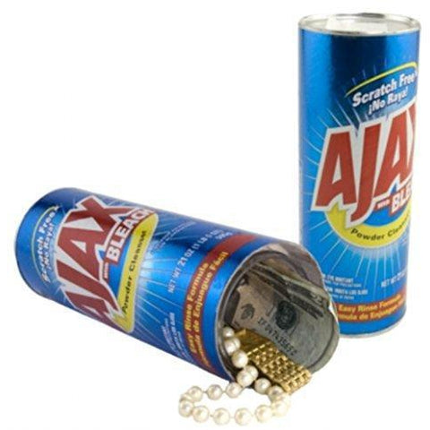 Ajax Diversion Safe Stash - Diversion Safes - Hide your stash and money in everyday items that contain secret compartments, if they don't see it, they can't get it -Secret Stashing