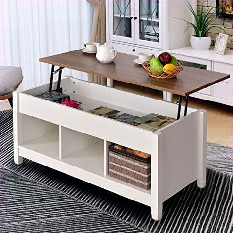 Coffee Table Lift Top - Concealment furniture and gun concealment furniture to hide your money, pistol, rifle or other weapons, keep guns safe away from kids with hidden compartment furniture -Secret Stashing