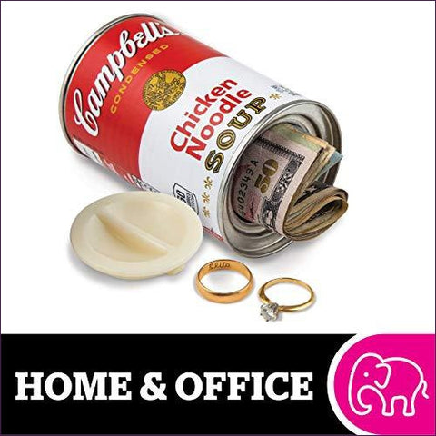 Campbell's Chicken Noodle Soup Can Safe - Diversion safes made out of every day items to keep your stash hidden and hide your money and valuables from the naked eye -Secret Stashing