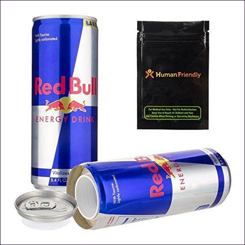 Red Bull Diversion Safe Secret Stash Can - Diversion Safes - Hide your stash and money in everyday items that contain secret compartments, if they don't see it, they can't get it -Secret Stashing
