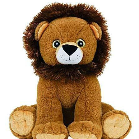Stuffed Lion with Hidden Opening