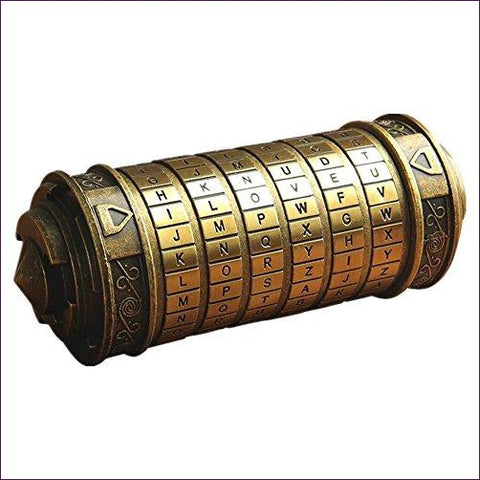 Da Vinci Code Mini Cryptex- Cool puzzles and brain teasers try and solve the puzzle and find the secret compartment and hidden door, great gift ideas -Secret Stashing