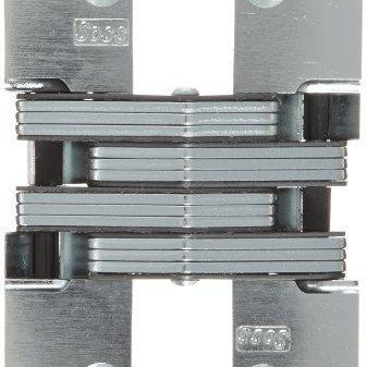 "Mortise Mount Invisible Hinge with 8 Holes, 4-5/8"" Leaf Height, 1-1/8"" Leaf Width, 1-41/64"" Leaf Thickness, 10 x 1-1/2"" Screw Size"