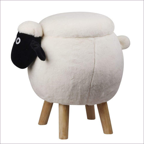 Wooly Sheep Kids Ottoman Stool with Storage
