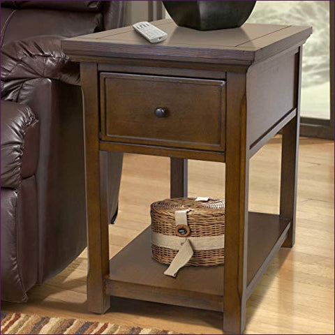 Concealment end table with secret drawer for guns and valuables - Concealment furniture and gun concealment furniture to hide your money, pistol, rifle or other weapons, keep guns safe away from kids with hidden compartment furniture -Secret Stashing