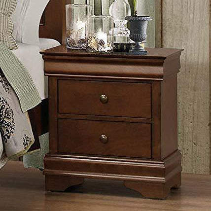 Wooden Nightstand with Hidden Drawer