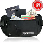 Money Belt RFID Blocking Undercover Hidden Waist Stash - Hide your money and passport and keep it safe when traveling with clothes and jewelry with secret compartments -Secret Stashing