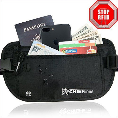 Money Belt RFID Blocking Undercover Hidden Waist Stash