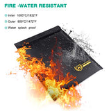 Fire Water Resistant Money Bag - DIY hidden compartments and diversion safes, build you own secret compartment to keep your money and valuables safe and avoid theft and stealing by burglars -Secret Stashing