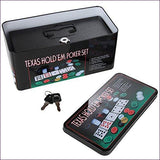 Texas Hold'em Diversion Safe Cashbox with Lock