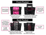 Garter Purse, Stays Put Silicone Grip & 2 Secured Pockets - Hide your money and passport and keep it safe when traveling with clothes and jewelry with secret compartments -Secret Stashing