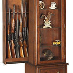 Gun/Curio Slider Cabinet Combination - Concealment furniture and gun concealment furniture to hide your money, pistol, rifle or other weapons, keep guns safe away from kids with hidden compartment furniture -Secret Stashing