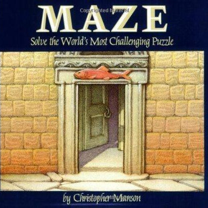 Maze: A Riddle In Words and Pictures- Cool puzzles and brain teasers try and solve the puzzle and find the secret compartment and hidden door, great gift ideas -Secret Stashing