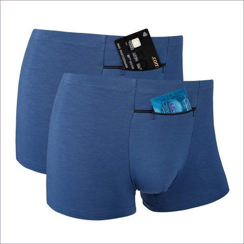 Pocket Underwear for Men with Secret Hidden Front Stash Pocket - Hide your money and passport and keep it safe when traveling with clothes and jewelry with secret compartments -Secret Stashing