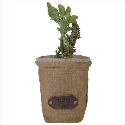 Waxed Canvas Storage Planter - Diversion Safes - Hide your stash and money in everyday items that contain secret compartments, if they don't see it, they can't get it -Secret Stashing