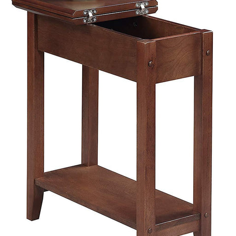Flip Top End Table - Concealment furniture and gun concealment furniture to hide your money, pistol, rifle or other weapons, keep guns safe away from kids with hidden compartment furniture -Secret Stashing