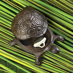 Metal Cast Iron Turtle Statue Spare Key Hiders Outside - Secret compartment decor - find furniture, statues and clocks and other decor products that look like your regular home decor with secret compartments and hidden drawers to keep your valuables hidden on plain sight -Secret Stashing
