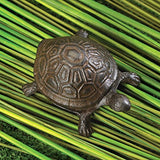 Metal Cast Iron Turtle Statue Spare Key Hiders Outside