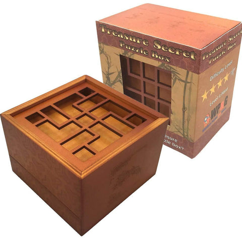 Treasure Secret Puzzle Box- Cool puzzles and brain teasers try and solve the puzzle and find the secret compartment and hidden door, great gift ideas -Secret Stashing