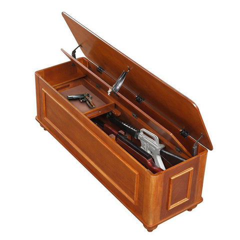 Classics Hope Chest with Gun Concealment - Concealment furniture and gun concealment furniture to hide your money, pistol, rifle or other weapons, keep guns safe away from kids with hidden compartment furniture -Secret Stashing