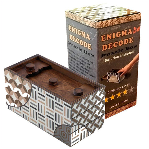 Enigma Decode Secret Puzzle Box - Secret Compartment Decor with hidden compartments to stash your valuables -Secret Stashing