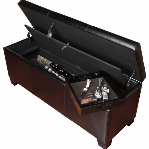 Gun Concealment Storage Bench - Concealment furniture to keep your guns and valuables safe from kids and thieves by using secret and hidden compartments -Secret Stashing