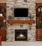 Fireplace Mantel Shelf - Concealment furniture and gun concealment furniture to hide your money, pistol, rifle or other weapons, keep guns safe away from kids with hidden compartment furniture -Secret Stashing