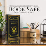 Real Pages Portable Diversion Book Safe (The Constitution of The United States of America) - Diversion Safes - Hide your stash and money in everyday items that contain secret compartments, if they don't see it, they can't get it -Secret Stashing