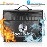 Waterproof Fireproof Document Bags - DIY hidden compartments and diversion safes, build you own secret compartment to keep your money and valuables safe and avoid theft and stealing by burglars -Secret Stashing